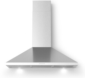 "BRAVO36 36"" Bravo Wall Mount Chimney Style Range Hood with 560 CFM, LED Lighting, in Stainless Steel"