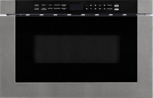"""F2412MVD8SS 24"""" Microwave Drawer with 1.2 cu. ft. Capacity, 10 Power Levels, Kitchen Timer, Defrosting Rack, Touch Open/Close, 1000 Watt Microwave Power, Auto Cook Control, Child Safety Lock, in Stainless Steel"""