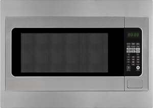 """Forte 2 Piece Kitchen Appliances Package with F2422MV5SS 24"""" Countertop Microwave and F27MVTKSS 27"""" Built-In Trim Kit in Stainless Steel"""